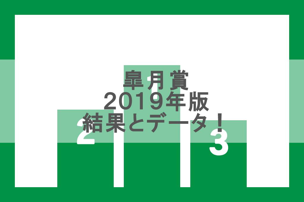 【2019年】皐月賞のレース結果と1着から3着までのデータ!
