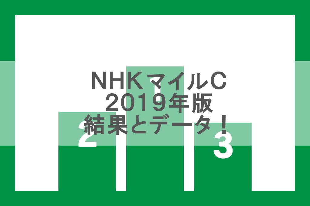 【NHKマイルC 2019】レース結果と1着から3着までのデータ!